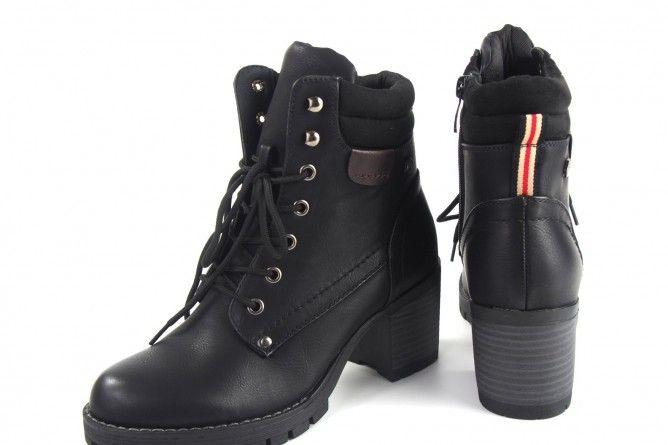 Botín señora DEITY 16501 yqb negro