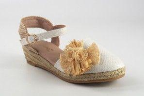 Chaussure fille BUBBLE BOBBLE A2543-S / A2543-L blanc