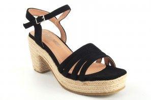 Sandale femme LA PUSH 5037 noir