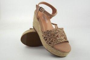Sandale femme LA PUSH 2910 beige
