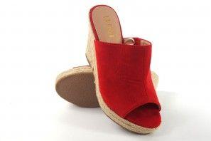 Sandalia señora LA PUSH 2111 rojo