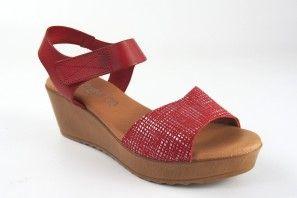 Sandalia señora EVA FRUTOS 9438 rojo