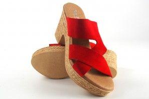 Sandalia señora EVA FRUTOS 8756 rojo