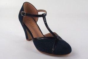 Zapato señora LA PUSH 5015 azul