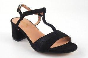 Sandalia señora LA PUSH 5064 negro