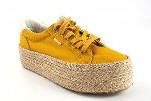 Zapato señora MUSTANG 69492 mostaza