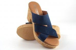 Sandalia señora EVA FRUTOS 8756 azul