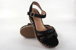 Sandale femme LA PUSH 2074 noir