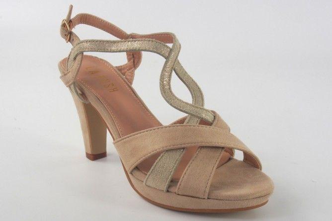 Sandalia señora LA PUSH 5057 beig
