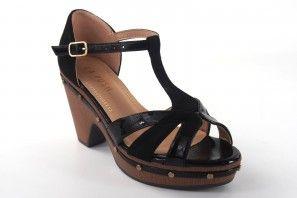 Sandalia señora LA PUSH 5101 negro