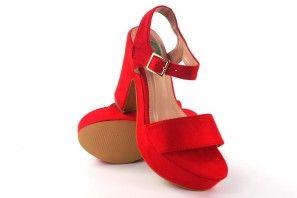 Sandalia señora BEBY 19754 rojo