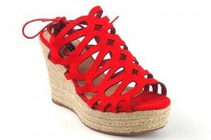 Sandalia señora BEBY 19759 rojo