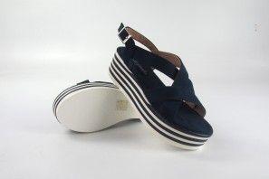 Sandalia señora LA PUSH 9002 azul