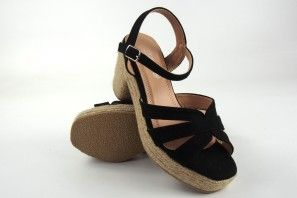 Sandalia señora LA PUSH 9010 negro