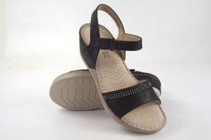 Sandalia señora AMARPIES 15025 abz negro