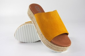 Sandale femme CO & SO 23020 moutarde