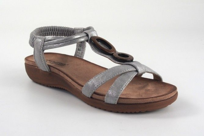 Sandalia señora AMARPIES 17064 abz plata