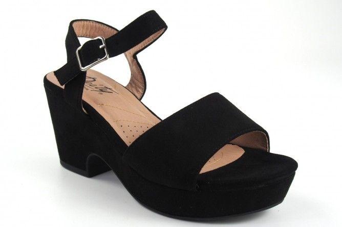 Sandalia señora DEITY 17383 ybz negro