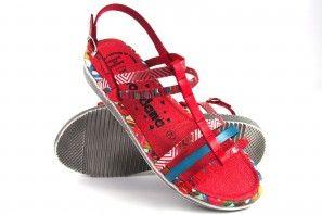 Sandalia señora JORDANA 2236 rojo