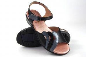 Zarte Füße Dame DUENDY 472 schwarz