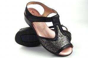 Zarte Füße Dame DUENDY 3093 schwarz