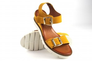 Sandale femme CO & SO ba022 moutarde