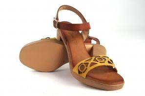 Sandale femme CO & SO H050 moutarde