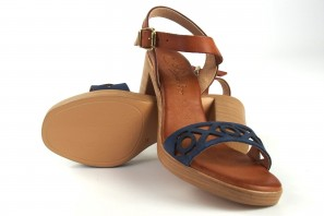 Sandalia señora CO & SO h050 azul