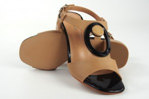 Sandale dame D'ANGELA 17609 dfe toastée