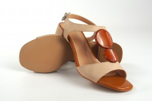 Sandale dame D'ANGELA 17608 dfe beig