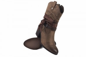 Bottines femme MUSTANG 50275 taupe