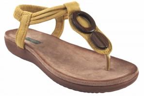 Sandalia señora AMARPIES 17063 abz mostaza