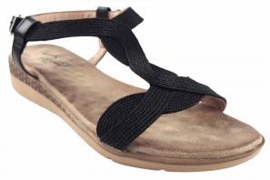Sandalia señora DEITY 17380 ybz negro
