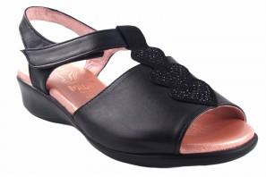 Zarte Füße Dame DUENDY 318 schwarz