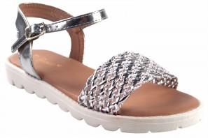 Sandale fille BUBBLE BOBBLE A2942 argent