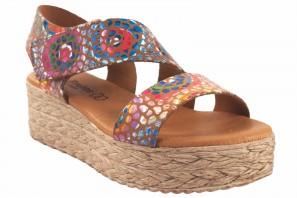 EVA FRUTOS 724 Damen-Sandale aus Leder