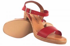 Sandalia señora EVA FRUTOS 971 rojo