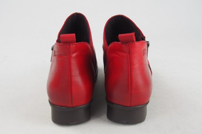 Botín señora PEPE MENARGUES 1124 rojo